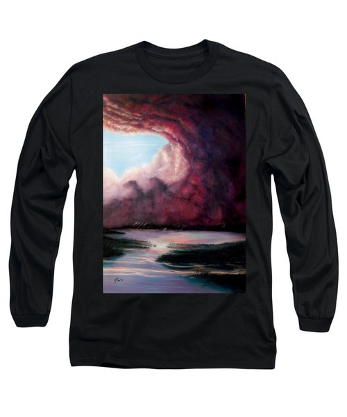 Long Sleeve T-Shirt featuring the painting The Hansbach by Albert Puskaric