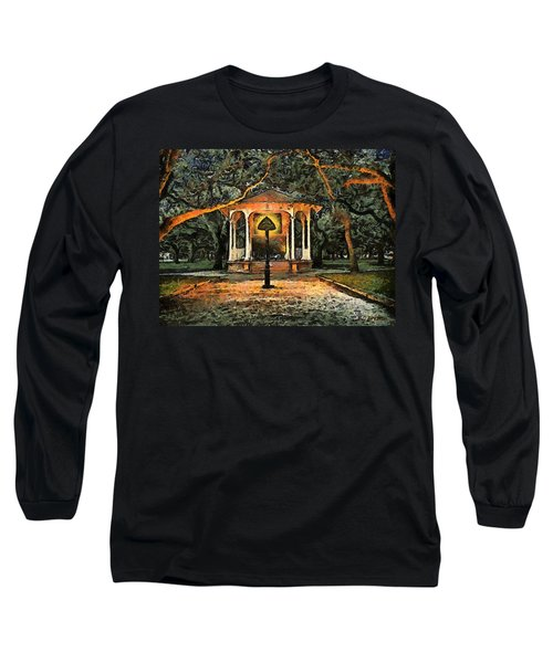 The Haunted Gazebo Long Sleeve T-Shirt by RC deWinter