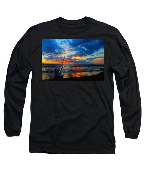 The Hawaiian Sailboat Long Sleeve T-Shirt by Michael Rucker