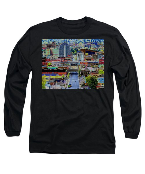 The Heart Of Downtown Spokane  Long Sleeve T-Shirt