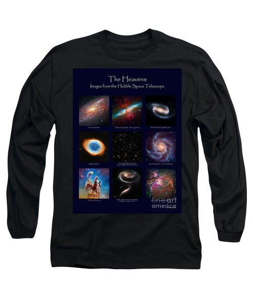 The Heavens - Images From The Hubble Space Telescope Long Sleeve T-Shirt by David Perry Lawrence
