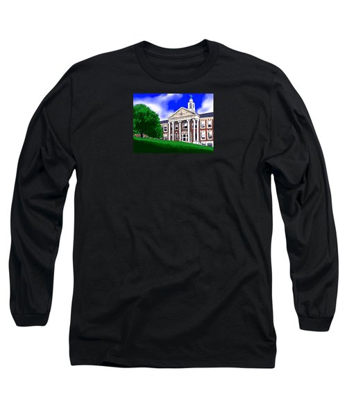 Long Sleeve T-Shirt featuring the painting The Hill by Jean Pacheco Ravinski