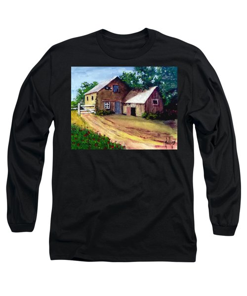 Long Sleeve T-Shirt featuring the painting The House Barn by Jim Phillips