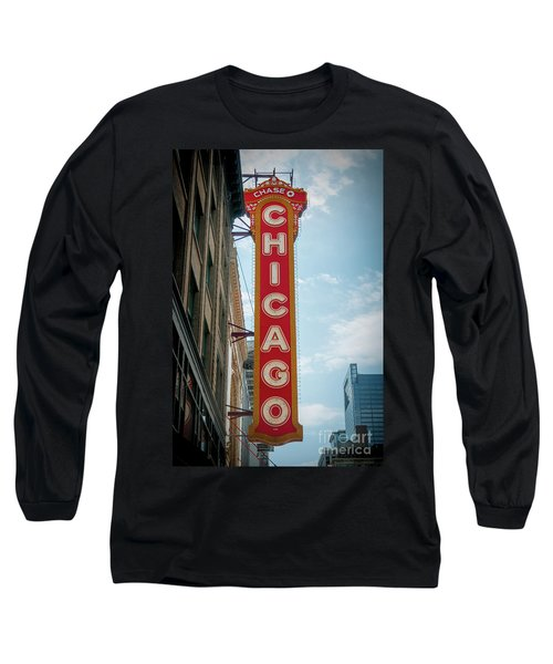 The Iconic Chicago Theater Sign Long Sleeve T-Shirt
