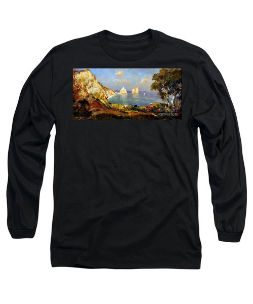 The Island Of Capri And The Faraglioni Long Sleeve T-Shirt
