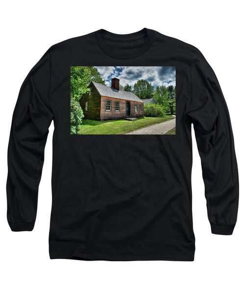 Long Sleeve T-Shirt featuring the photograph The John Wells House In Wells Maine by Wayne Marshall Chase