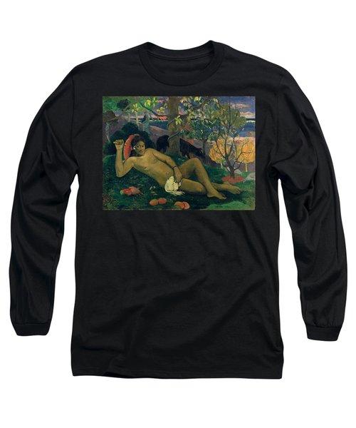 The Kings Wife Long Sleeve T-Shirt by Paul Gauguin