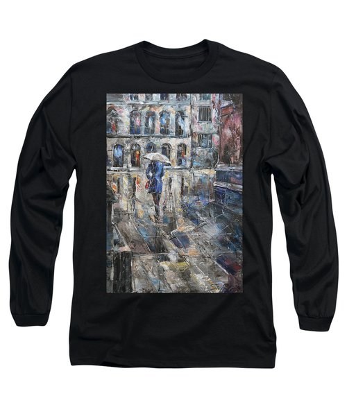 The Lady In Blue Long Sleeve T-Shirt