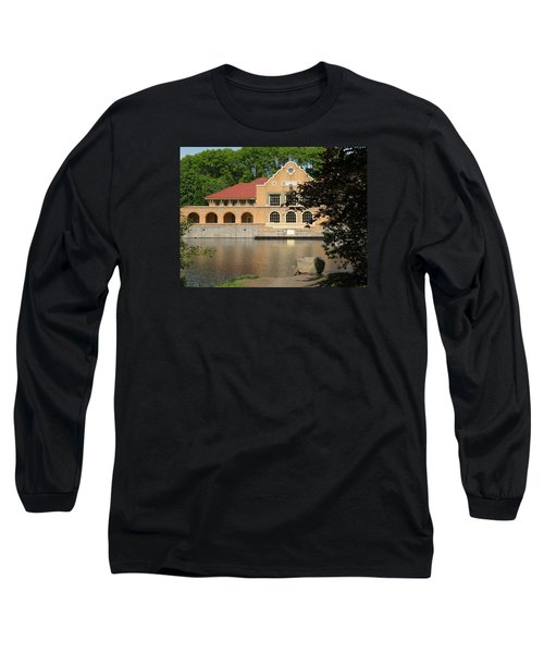 Long Sleeve T-Shirt featuring the photograph The Lake House by Rosalie Scanlon
