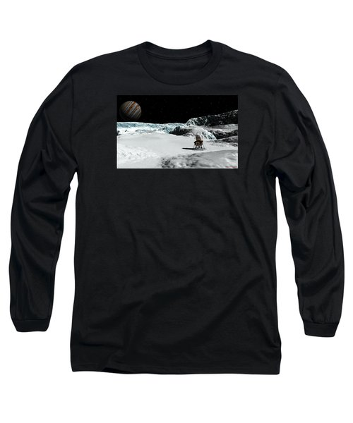 Long Sleeve T-Shirt featuring the digital art The Lander Ulysses On Europa by David Robinson