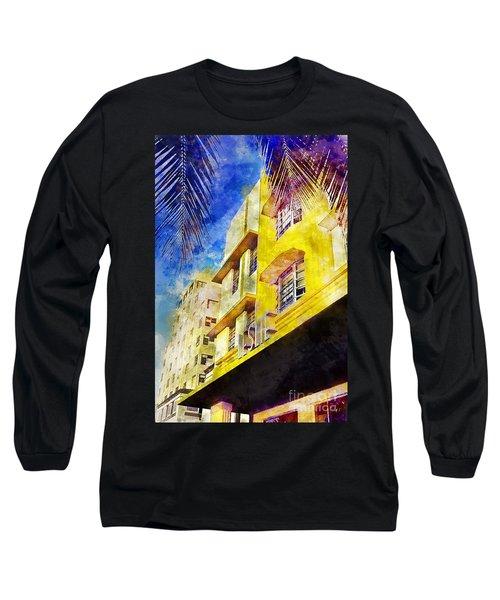 The Leslie Hotel South Beach Long Sleeve T-Shirt