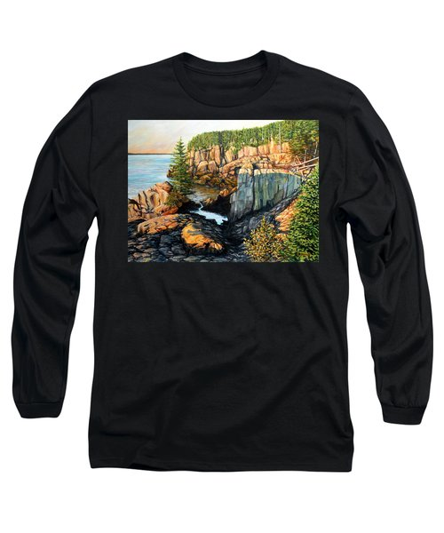 The Light Dawns On West Quoddy Head Long Sleeve T-Shirt