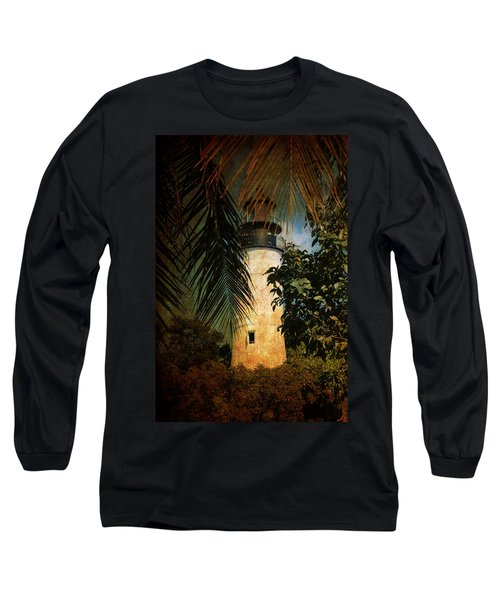 The Lighthouse In Key West Long Sleeve T-Shirt by Susanne Van Hulst