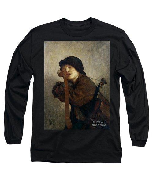 The Little Violinist Sleeping Long Sleeve T-Shirt