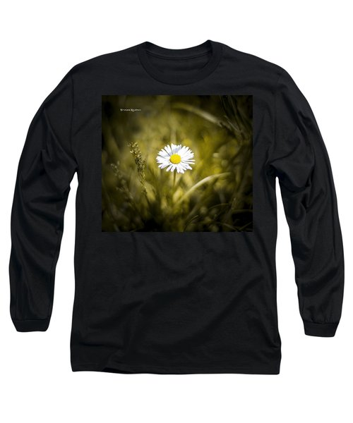 Long Sleeve T-Shirt featuring the photograph The Lonely Daisy by Stwayne Keubrick