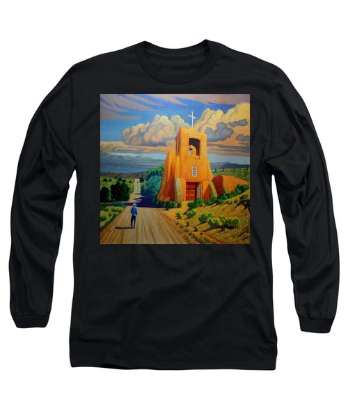 The Long Road To Santa Fe Long Sleeve T-Shirt by Art West