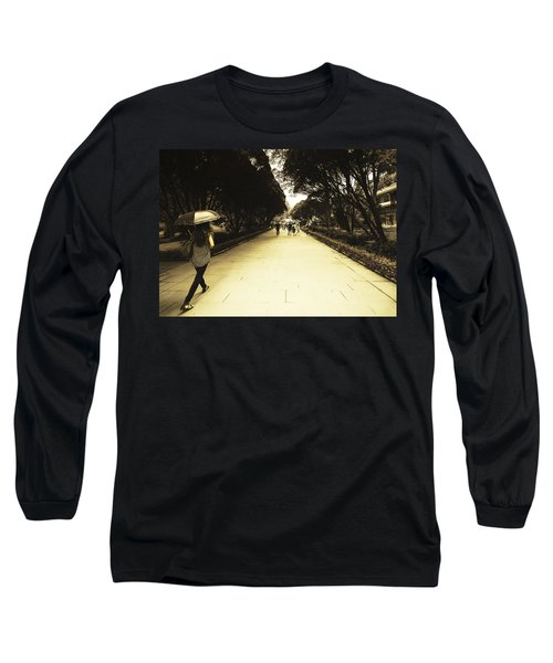The Long Walk Long Sleeve T-Shirt by Patrick Kain
