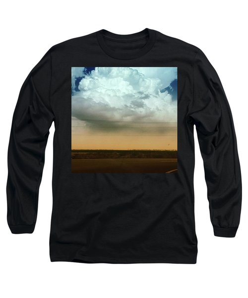 The Dust Covering The M Mountain  Long Sleeve T-Shirt