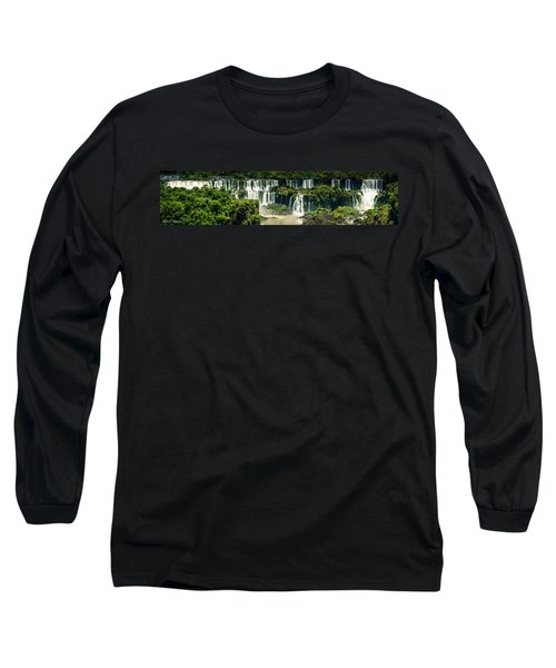 The Mighty Iguazu  Long Sleeve T-Shirt by Andrew Matwijec