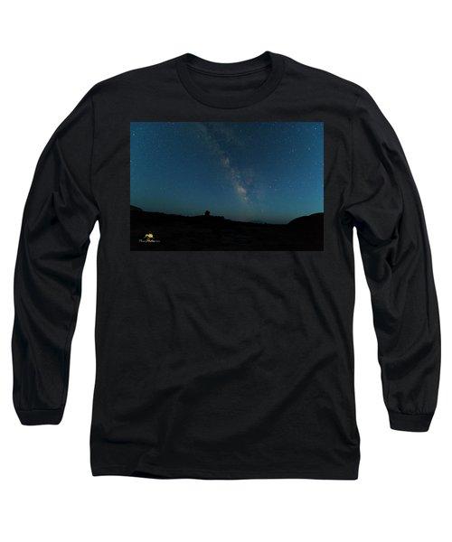 The Milky Way At Goblin Valley Long Sleeve T-Shirt
