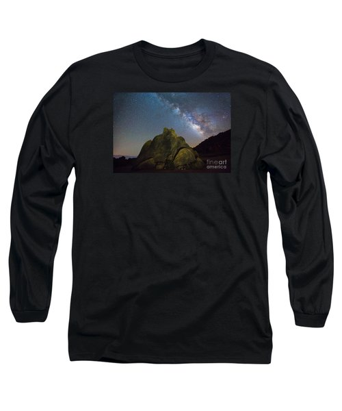 The Milky Way Roars Over The Eastern Sierra Long Sleeve T-Shirt