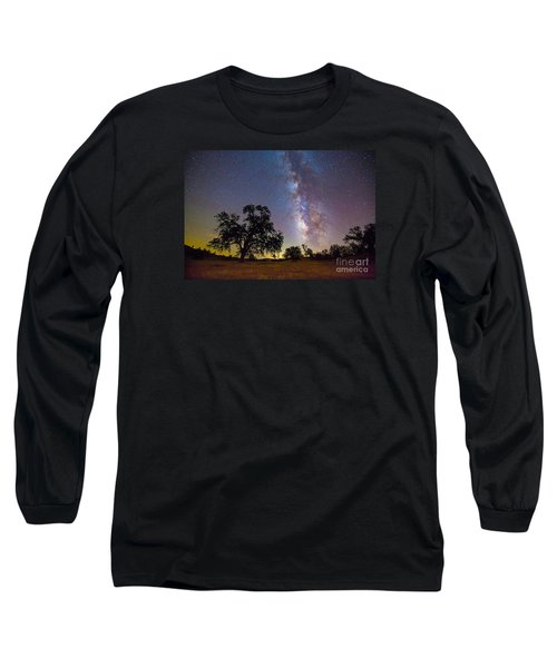 The Milky Way With One Perseid Meteor Long Sleeve T-Shirt