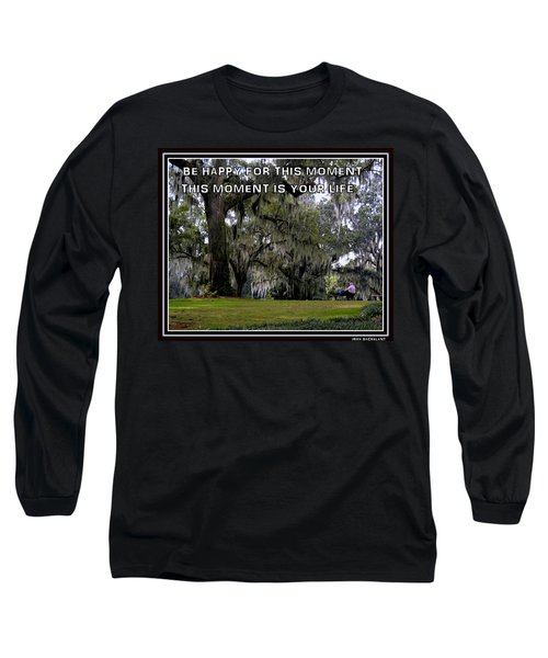 Long Sleeve T-Shirt featuring the photograph The Moment by Irma BACKELANT GALLERIES