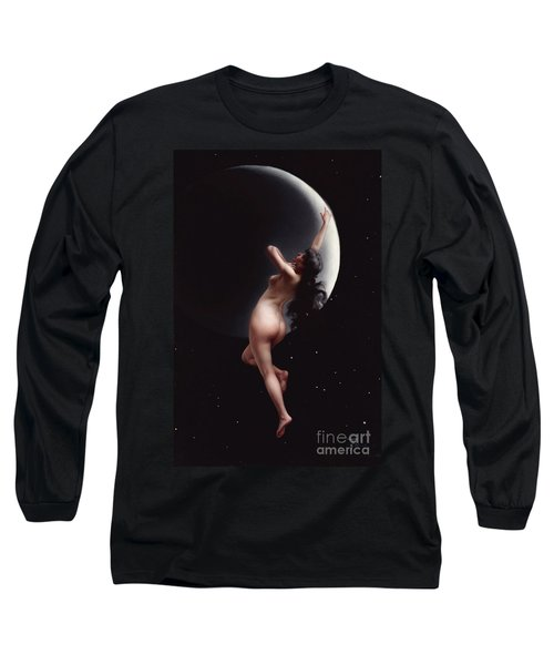 The Moon Nymph   Long Sleeve T-Shirt by Pg Reproductions