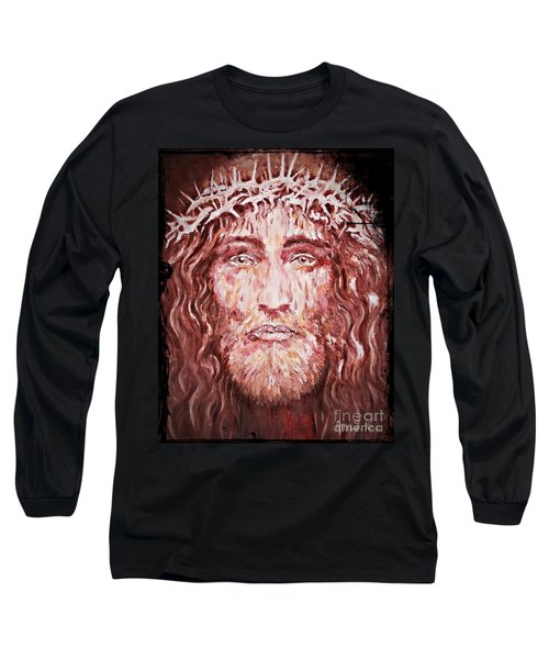 The Most Loved Jesus Christ Long Sleeve T-Shirt by AmaS Art