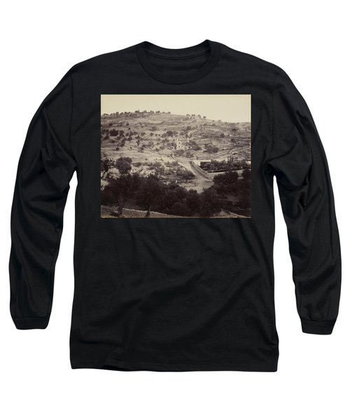 The Mount Of Olives And Garden Of Gethsemane Long Sleeve T-Shirt