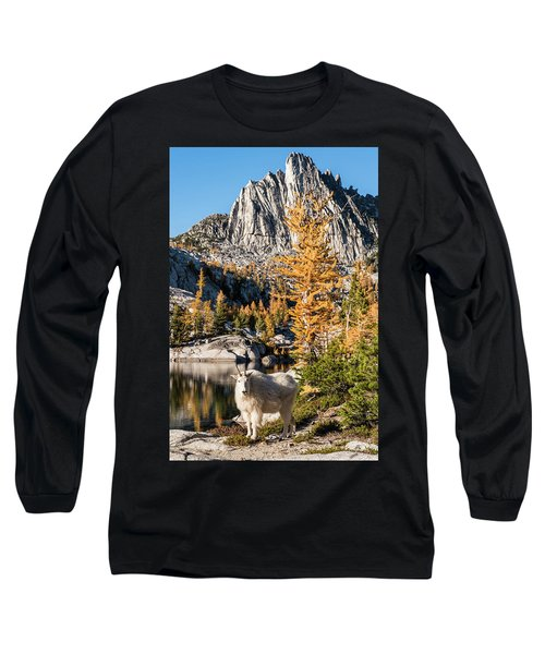 The Mountain Goat In The Enchantments Long Sleeve T-Shirt