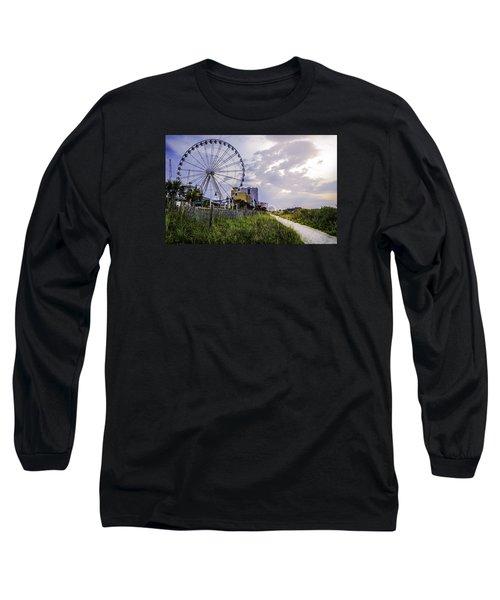 The Myrtle Beach, South Carolina Skywheel At Sunrise. Long Sleeve T-Shirt
