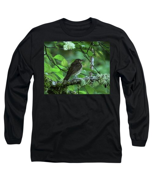 ..the Mysterious Thrush.. Long Sleeve T-Shirt by I'ina Van Lawick