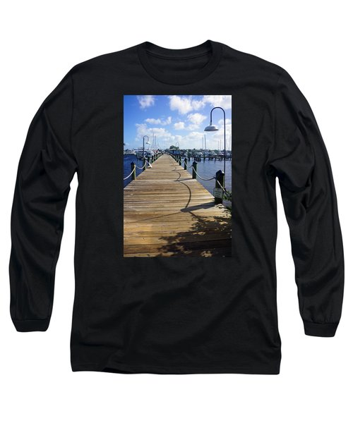 Long Sleeve T-Shirt featuring the photograph The Naples City Dock by Robb Stan