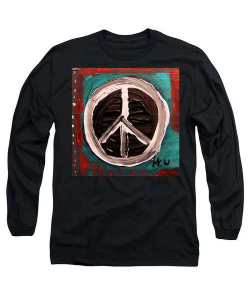 Long Sleeve T-Shirt featuring the painting The Need Continues by Mary Carol Williams