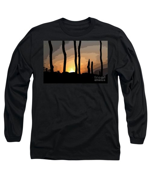 The New Dawn Long Sleeve T-Shirt by Tom Cameron