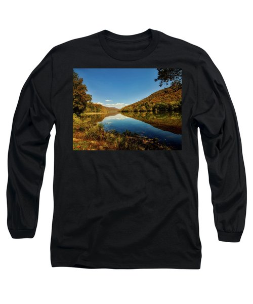 The New River In Autumn Long Sleeve T-Shirt by L O C