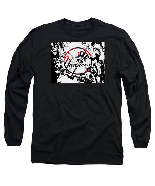 The New York Yankees 1b Long Sleeve T-Shirt by Brian Reaves