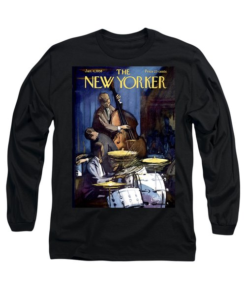 The New Yorker Cover - January 4th, 1958 Long Sleeve T-Shirt