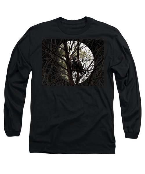 The Night Owl And Harvest Moon Long Sleeve T-Shirt
