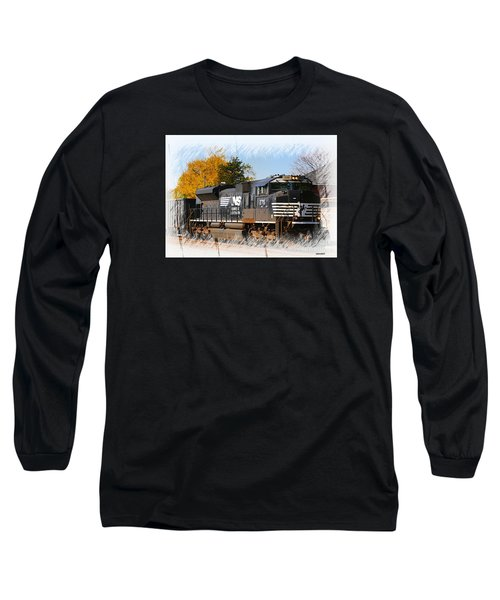 Long Sleeve T-Shirt featuring the photograph The Norfolk Southern by Robert Pearson