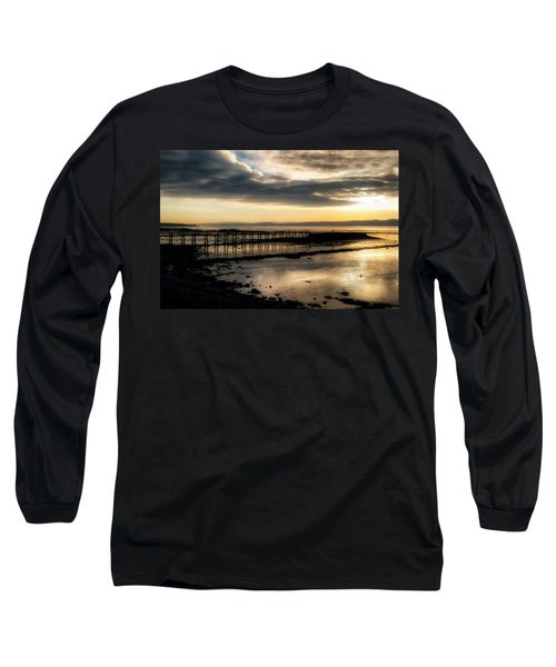 The Old Pier In Culross, Scotland Long Sleeve T-Shirt
