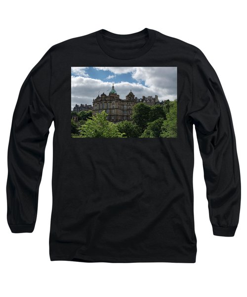 Long Sleeve T-Shirt featuring the photograph The Old Town In Edinburgh by Jeremy Lavender Photography
