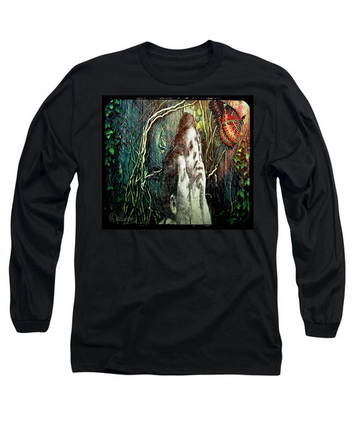 Long Sleeve T-Shirt featuring the digital art The Only Word... by Delight Worthyn