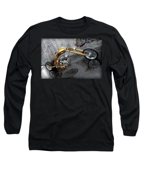 The Orange City Chopper Long Sleeve T-Shirt by David Collins