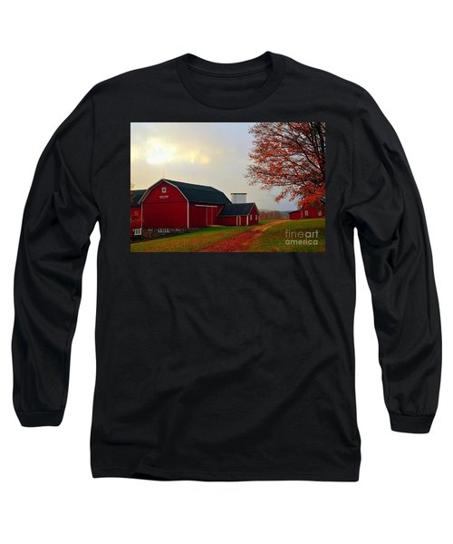 The Orignal Historic Eggle Farms Barn That Burned Down Long Sleeve T-Shirt