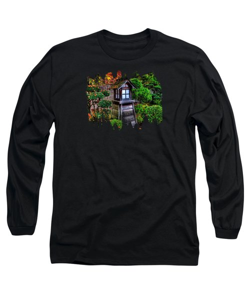 Long Sleeve T-Shirt featuring the photograph The Pagoda At The Japanese Gardens by Thom Zehrfeld