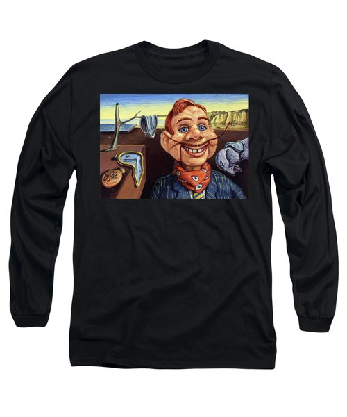 Long Sleeve T-Shirt featuring the painting The Persistence Of Doody by James W Johnson