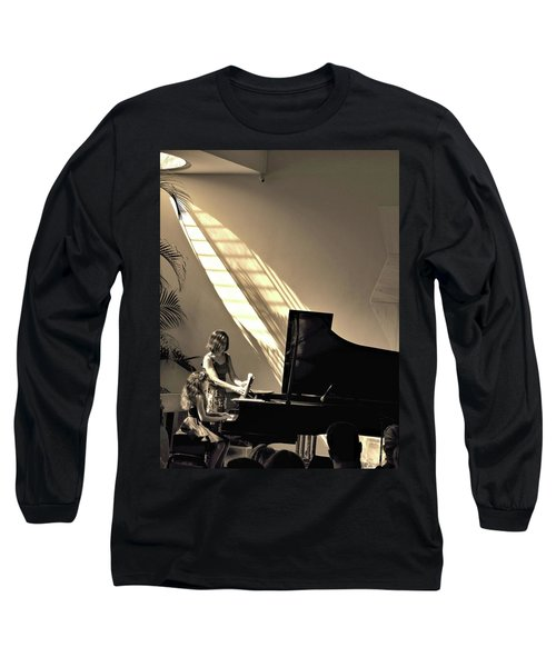 The Pianist Long Sleeve T-Shirt by Beto Machado