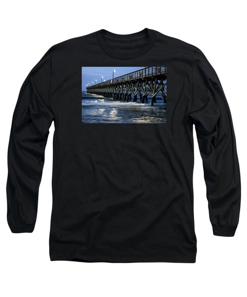 The Pier At The Break Of Dawn Long Sleeve T-Shirt by David Smith
